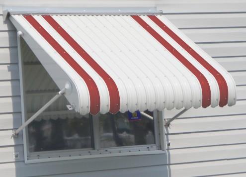 aluminum awning enlarged photo