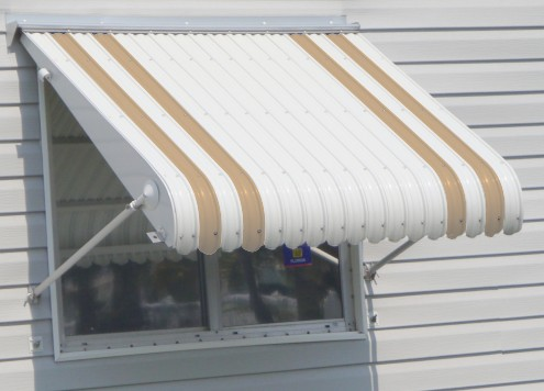 aluminum awning enlarged photo