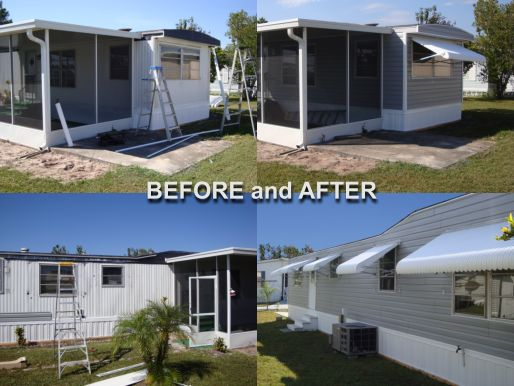 aluminum siding before and after