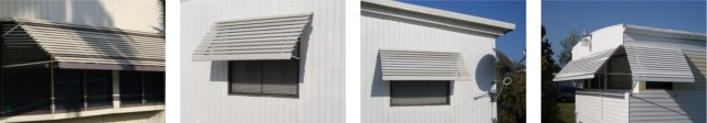 window awning products collage