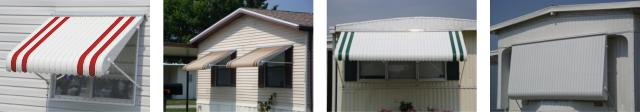 4 awnings photo collage