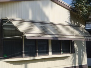 wide aluminum window awning