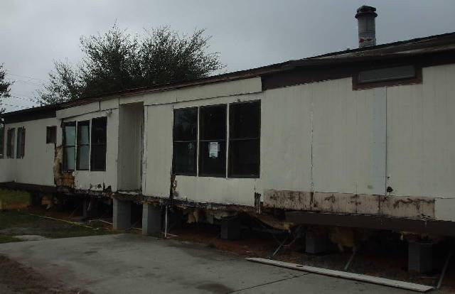 florida mobile home restoration before
