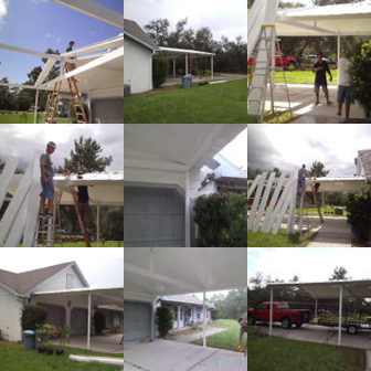 aluminum carport collage