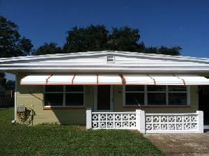 clamshell aluminum awnings