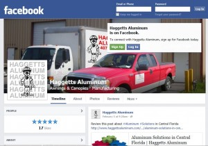 Haggetts Aluminum Facebook Fan Page