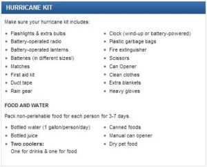Hurricane kit