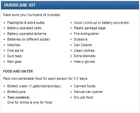 Hurricane kit