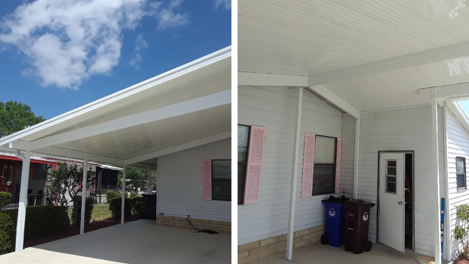 large aluminum carport project photo