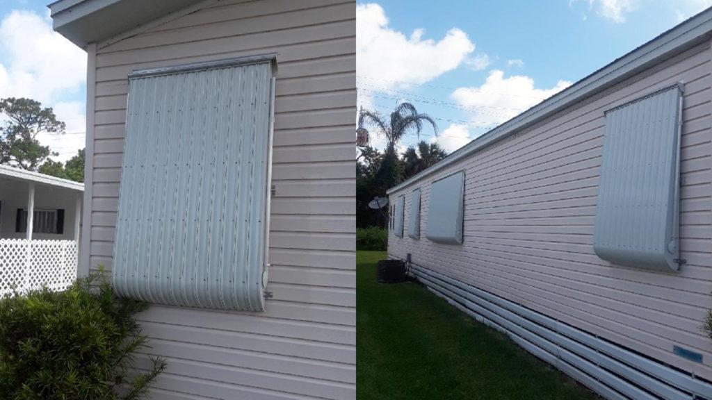 locked down window awnings
