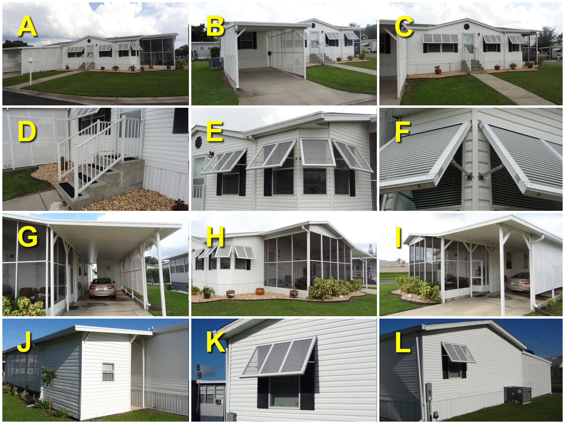florida mobile home upgrade collage