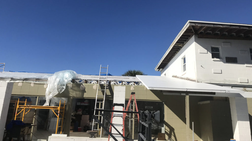 insulated roof project early phase