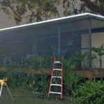 replacement aluminum screen room and roof
