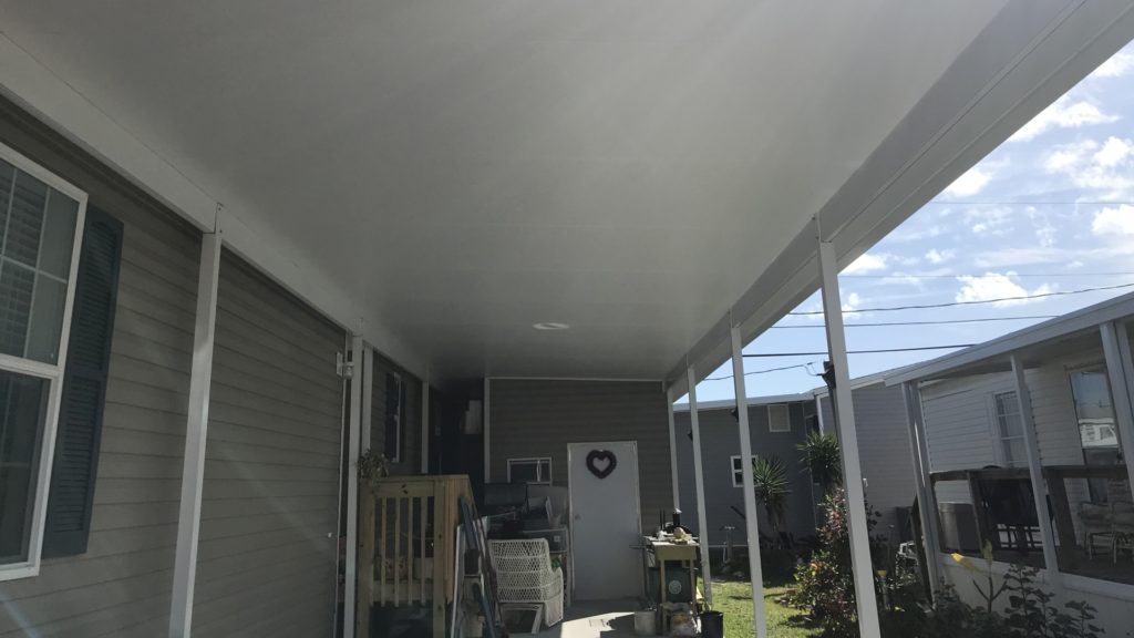 mobile home carport roof replacement