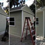 mobile home vinyl siding project collage