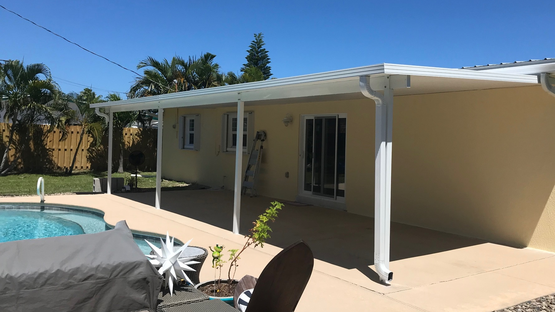 poolside insulated patio roof