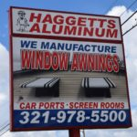 Haggetts Large Street Sign Cocoa Florida