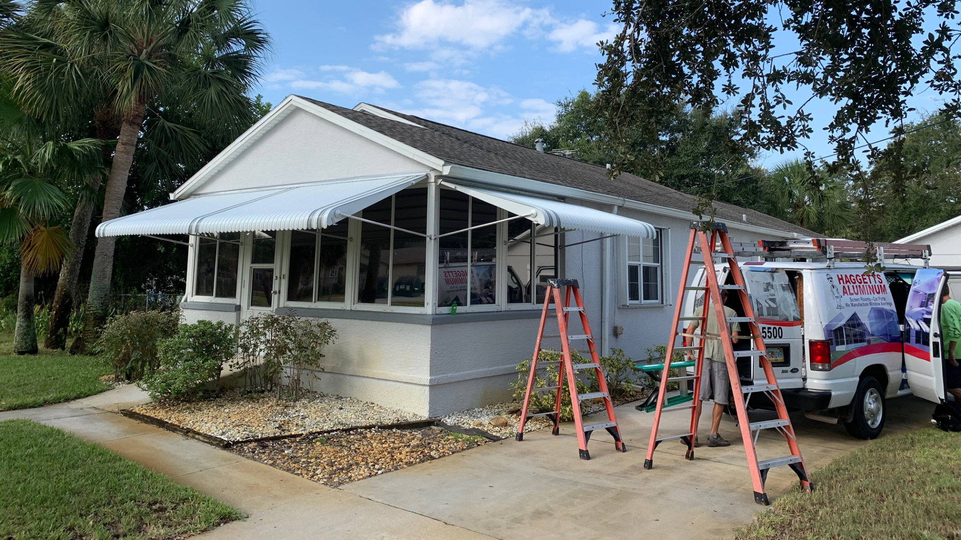front porch aluminum awnings project
