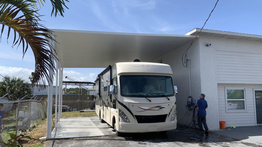 extreme rv carport project progress