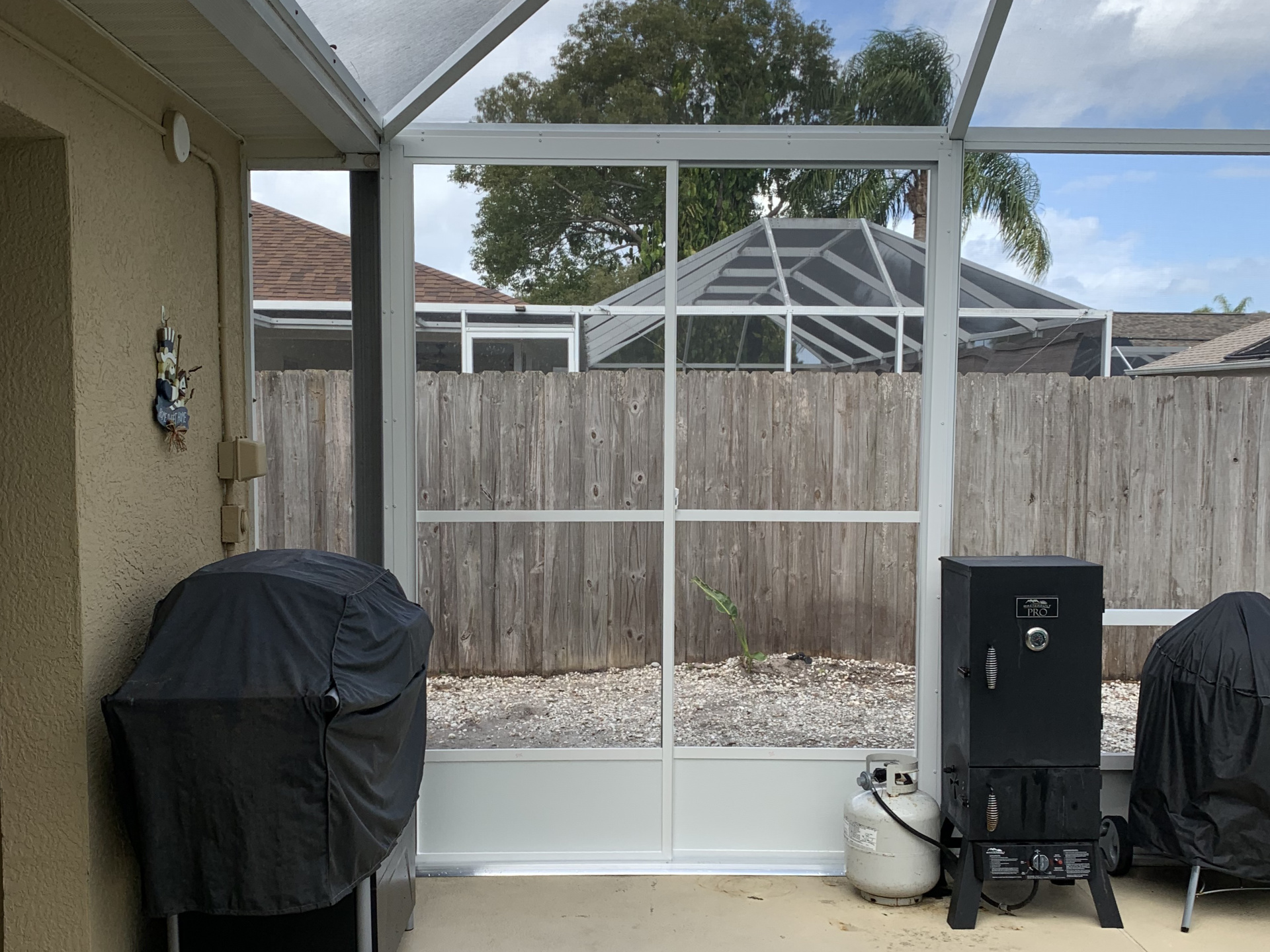 custom sliding screen door option