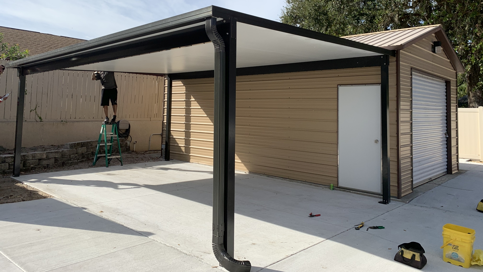 double wide carport project completed