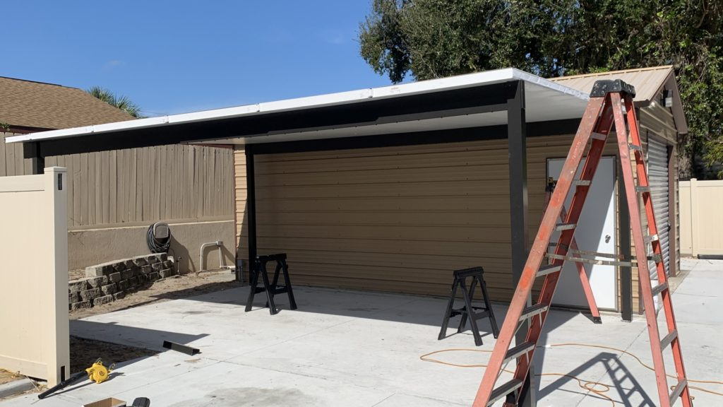 double wide carport project stage 2