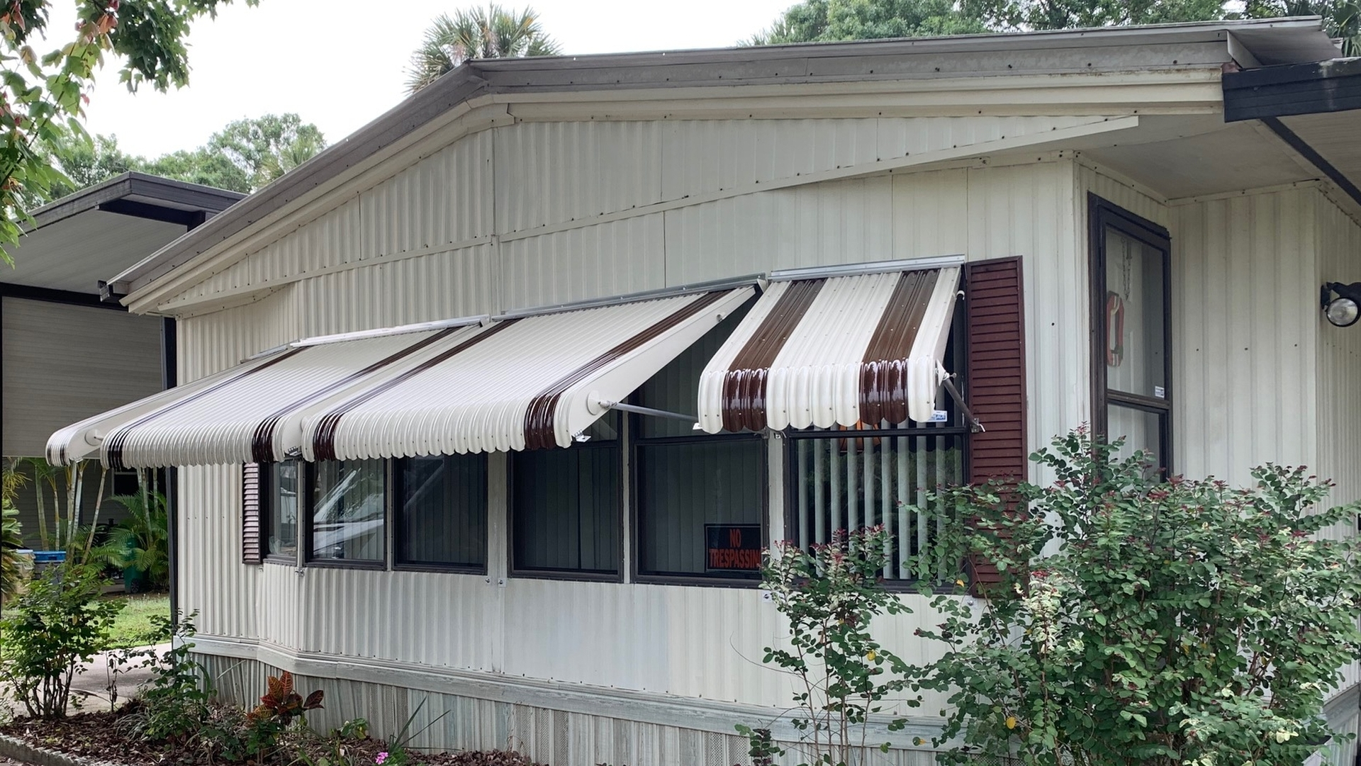 bay window awning cocoa florida open