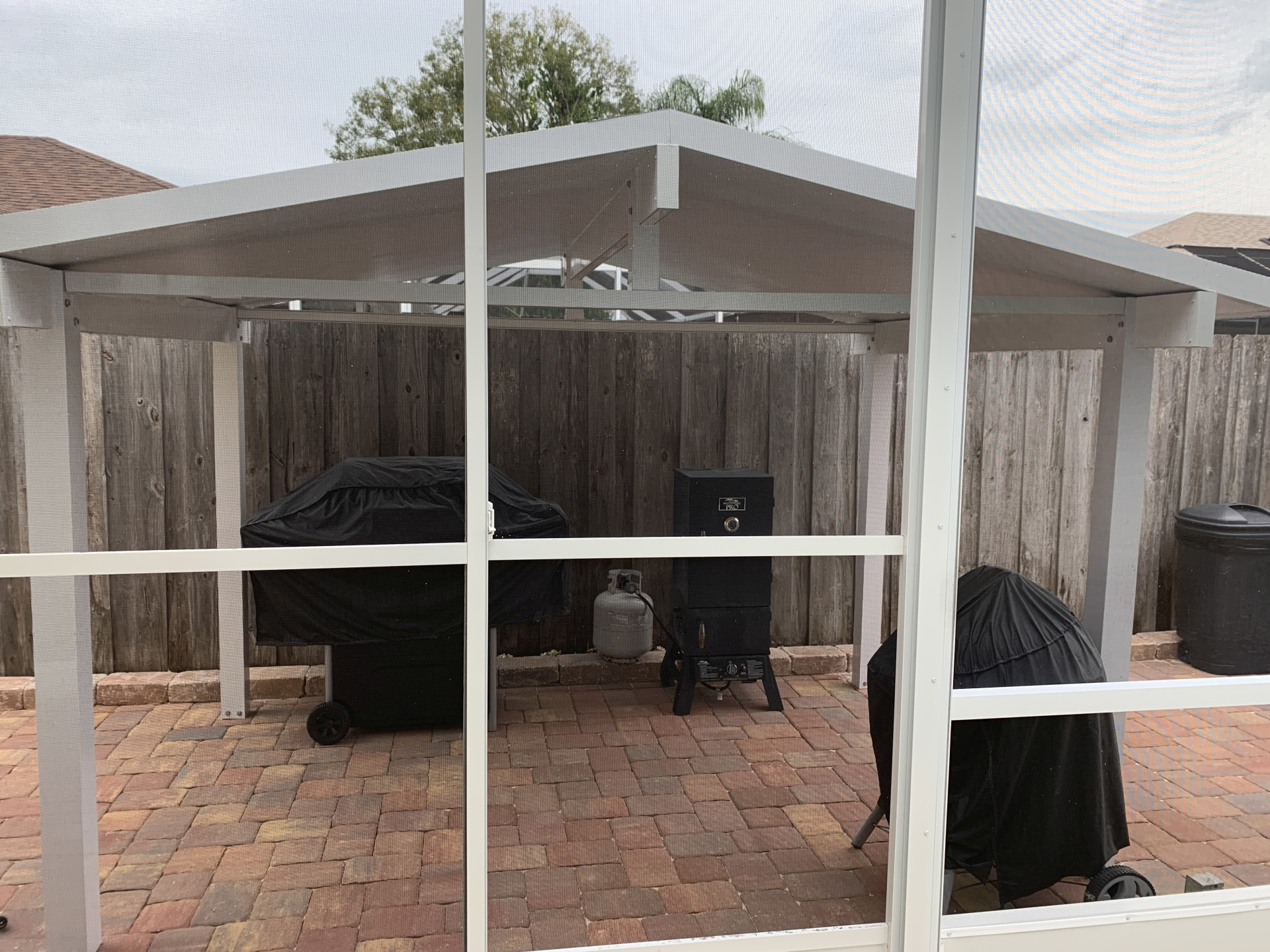 grill area cover installation