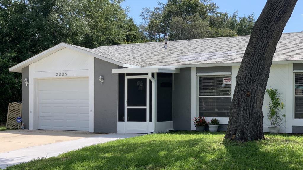 screened portico home addition