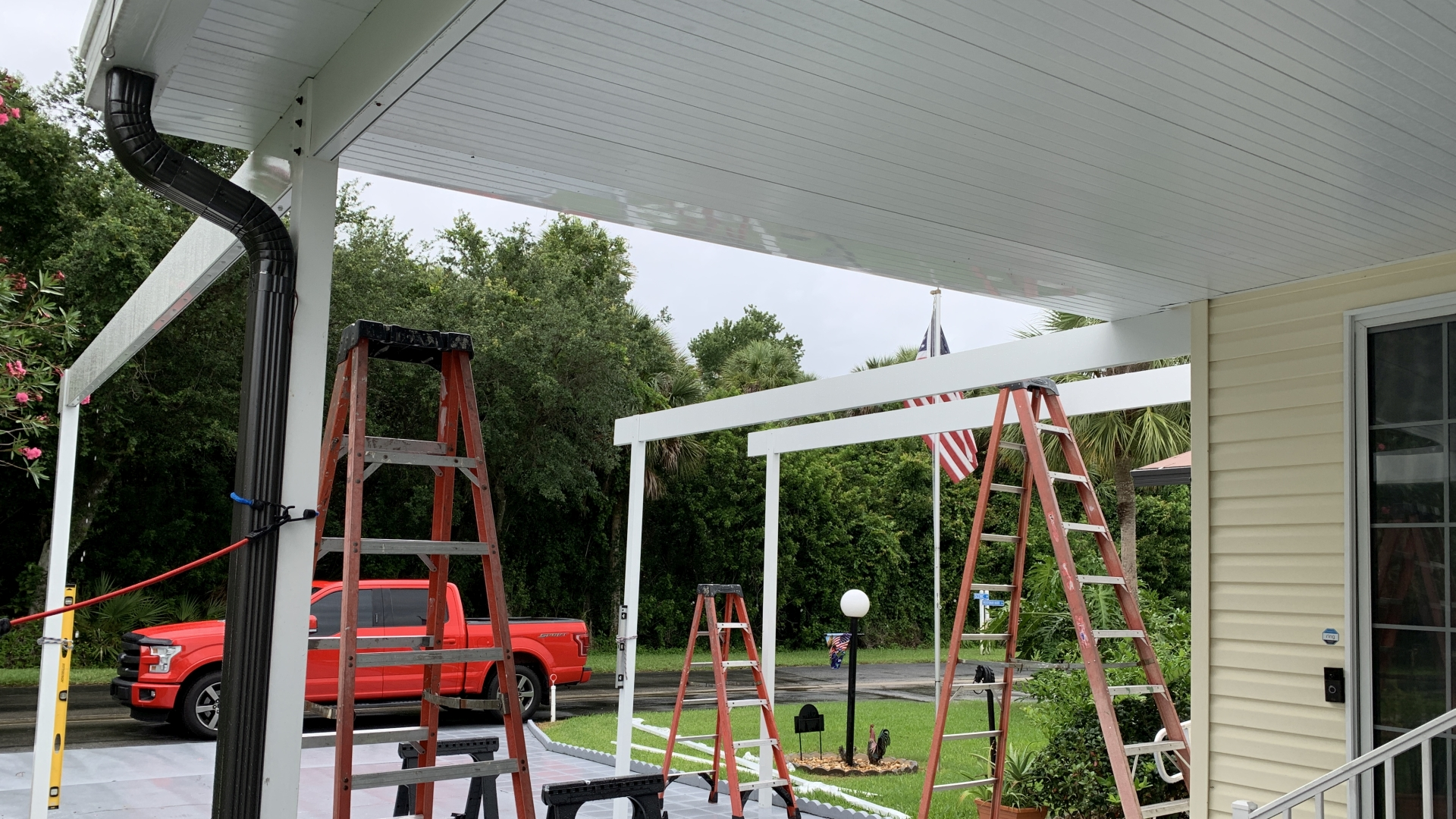 custom carport expansion in progress
