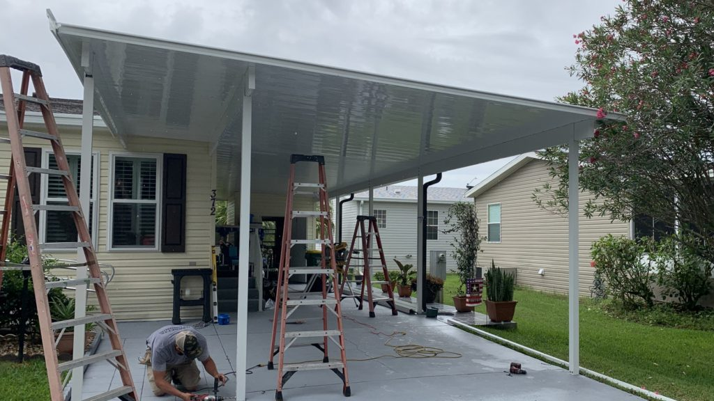 custom carport expansion nearly complete