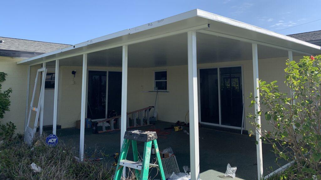 custom screenroom roof phase 2