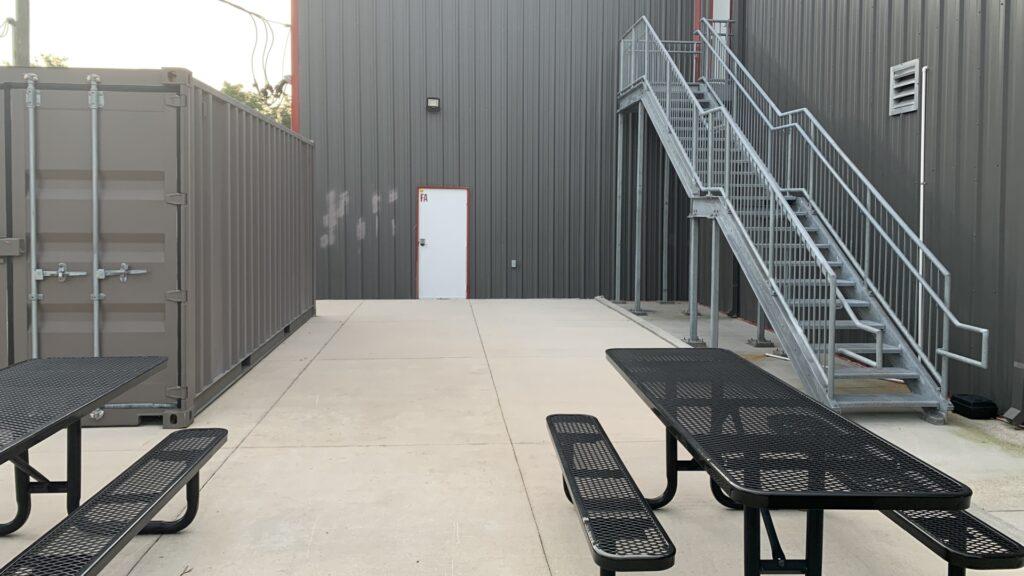 employee lounge custom roof phase one