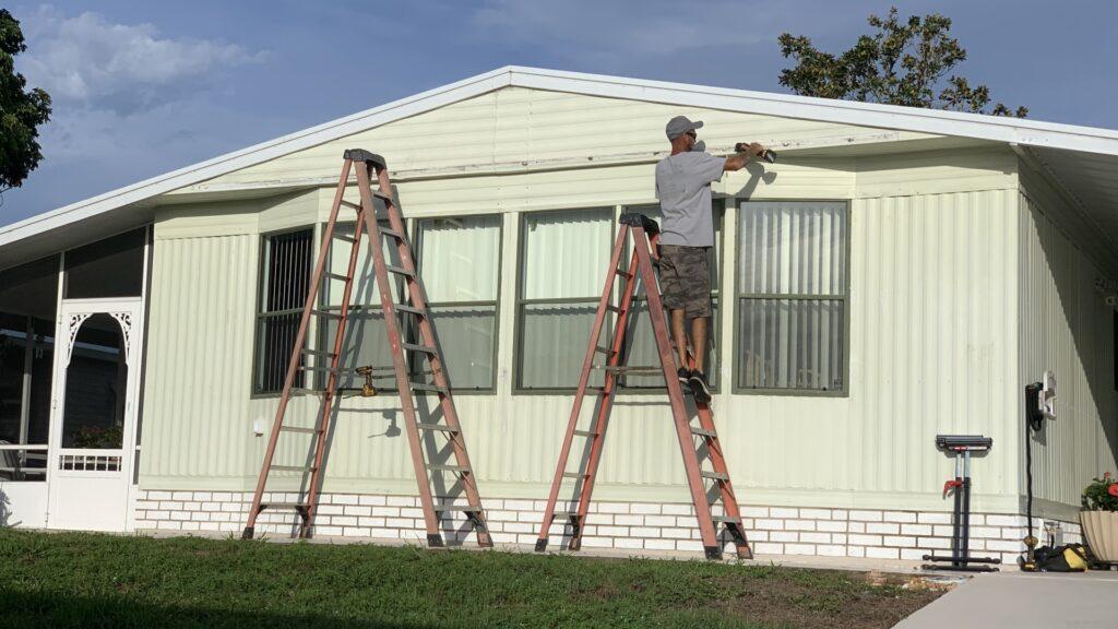 custom 20 foot awning progress