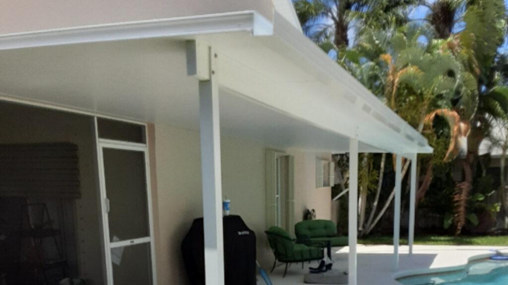 insulated patio cover progress